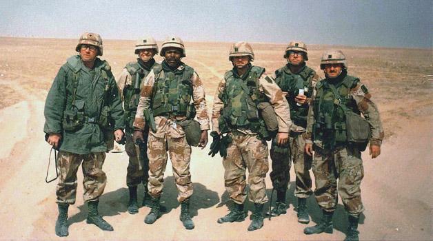Soldati durante la Guerra del Golfo